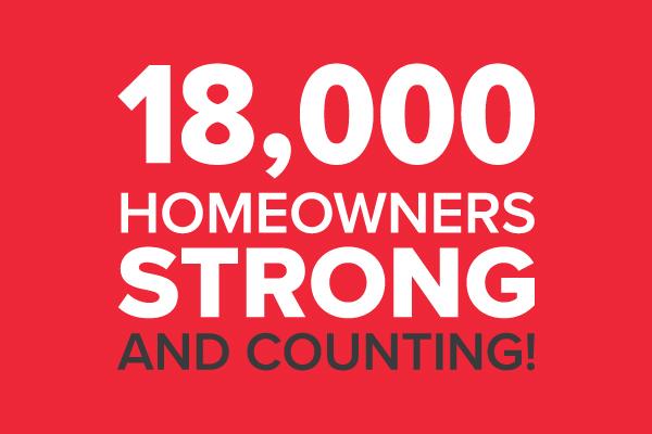 Celebrating 18K Homeowners logo