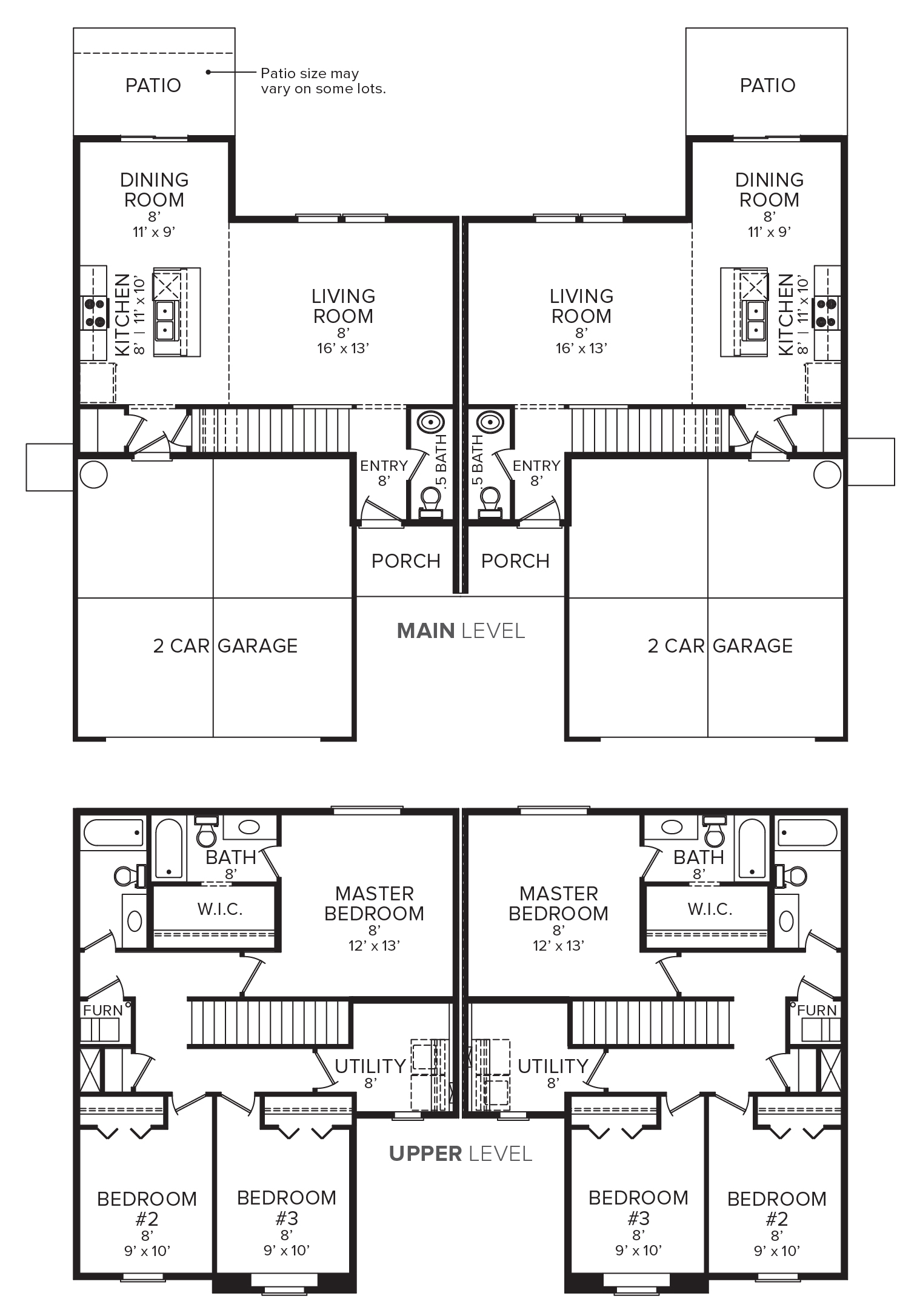 Layout image of Sawgrass Paired Home 1491 looking majestic